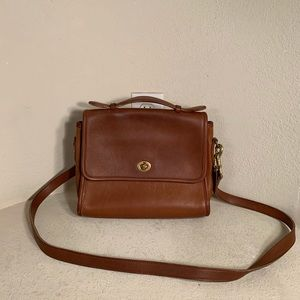 Vintage Coach Brown Leather purse with strap